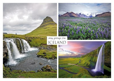Three photos of iceland