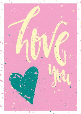 Love greetingcard with heart