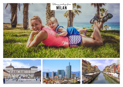 Milan triple photocollage