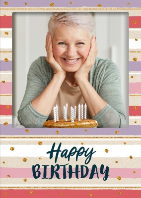 CARTELINA postcard happy birthday