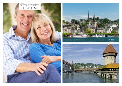 Personalizable greeting card from Lucerne in Switzerland