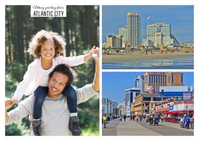 Personalizable greeting card from Atlantic City in New Jersey