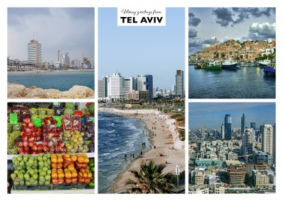 five photos of the city tel aviv in israel