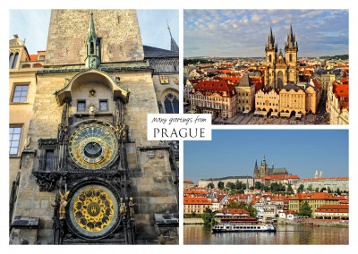 Three photos of Prague