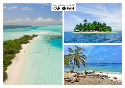 Three photos of caribbean