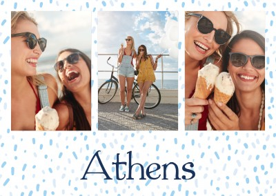 Athens seamless polkadot pattern blue grey