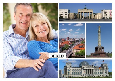 berlin collage with most important landmarks