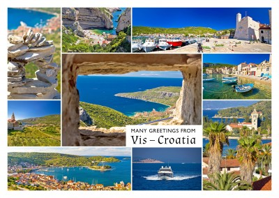 photocollage of vis croatia