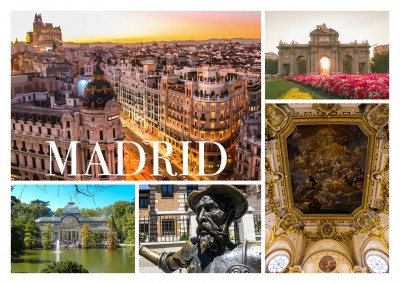 photo collage of Madrid