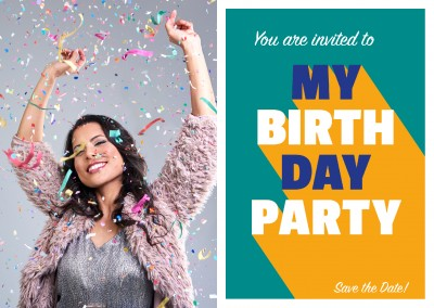 You are invited to my Birthday Party greeting card