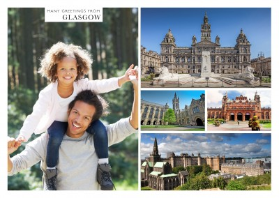 multipicture photocollage of glasgow