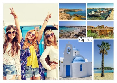 multipicture photocollage of cyprus