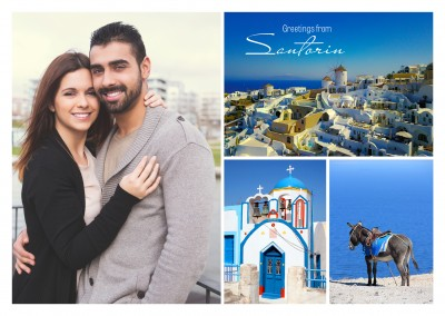 photocollage of Santorini