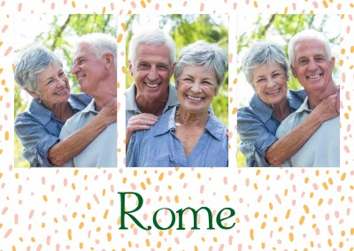 Rome seamles polkadot pattern