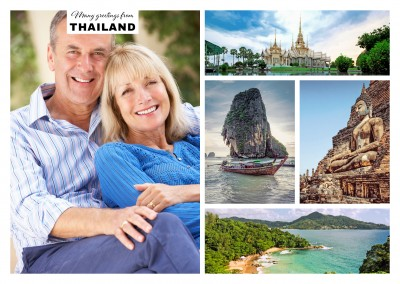 multiphotocollage of thailand with four pictures