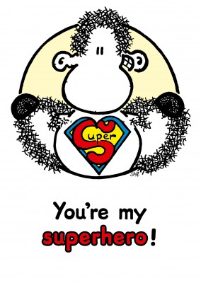 Sheepworld You're my Superhero