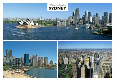 triple photocollage of sydney australia
