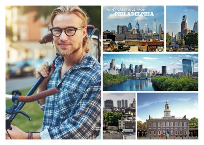 multipicture photocollage of philadelphia