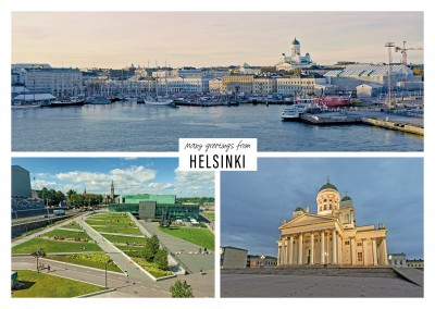 Three photos of Helsinki in Finland