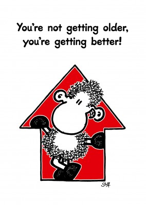 sheepworld wordheroes sheep cartoon with funny quote about aging