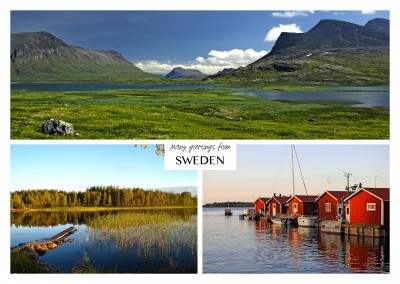 Three photos of Sweden