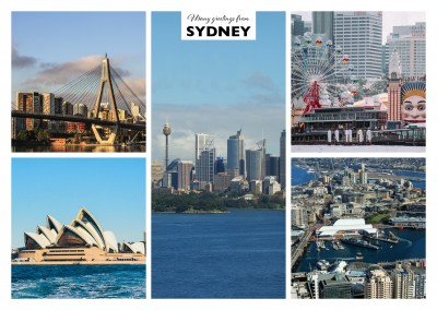 five photos of sydney