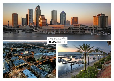 Three photos of Tampa – Florida at night
