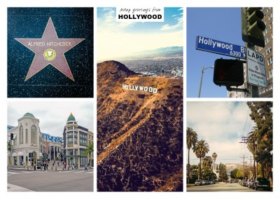 five photos of hollywood