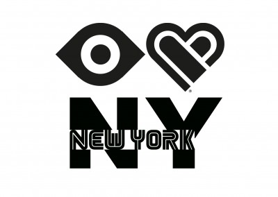 Illustration Eye-love New York schwarz weiss