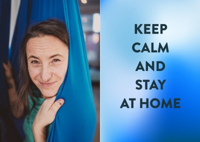 Postkarte Spruch Keep calm and stay at home