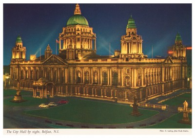 The John Hinde Archive Foto Belfast, City Hall by night