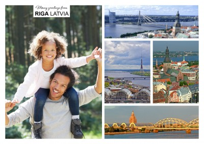 multipicture fotocollage von riga in lettland
