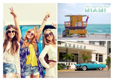 fotocollage von miami beach