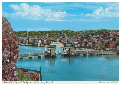 The John Hinde Archive Foto Waterford City and bridge ober River Suir