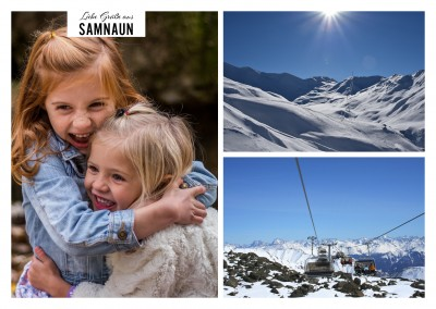 Samnaun Winter Fotocollage