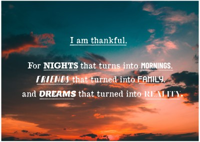 Foto Spruch I am thankful