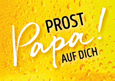 GREETING ARTS Prost Papa auf Dich