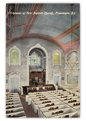 Providence, Rhode Island, Interior of First baptist Church