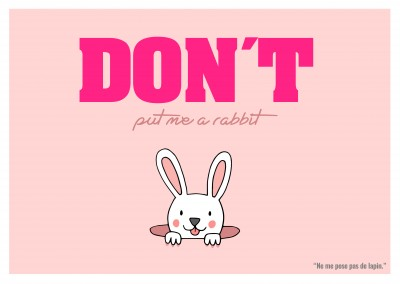 Expression drole franglais - don t put me a rabbit