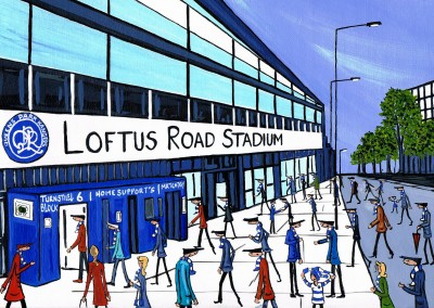 Illustration South London Artist Dan South London Artist Dan QPR Stadium