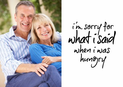 I'm sorry for what I said when I was hungry-quote in black handwriting on white background–typoism