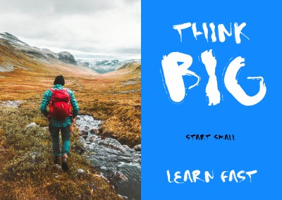 Quote Think big start small learn fast