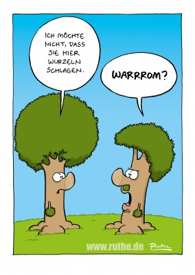 Ruthe Cartoon, Hitlerbaum–mypostcard