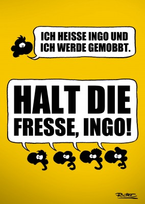 Ruthe Cartoon, Halt die Fresse, Ingo–mypostcard
