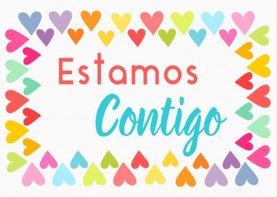 we're with you – Estamos contigo