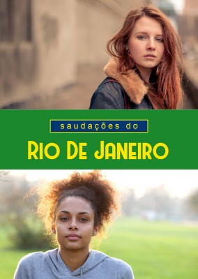 Rio greetings in Portguguese language