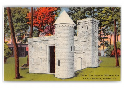 Roanoke, Virginia, Castle at Childrens Zoo, Mill Mountain