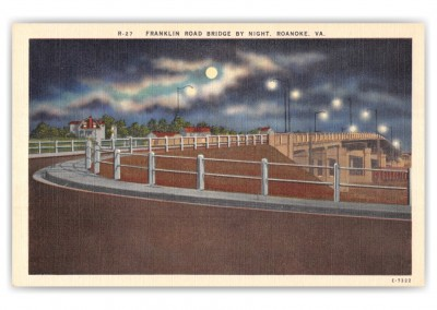 Roanoke, Virginia, Franklin Road Bridge at night