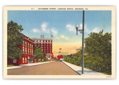 Roanoke, Virginia, Jefferson Street looking north