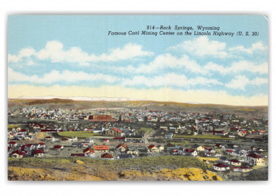 Rock Springs, Wyoming, Coal Mining Center on Lincoln Highway
